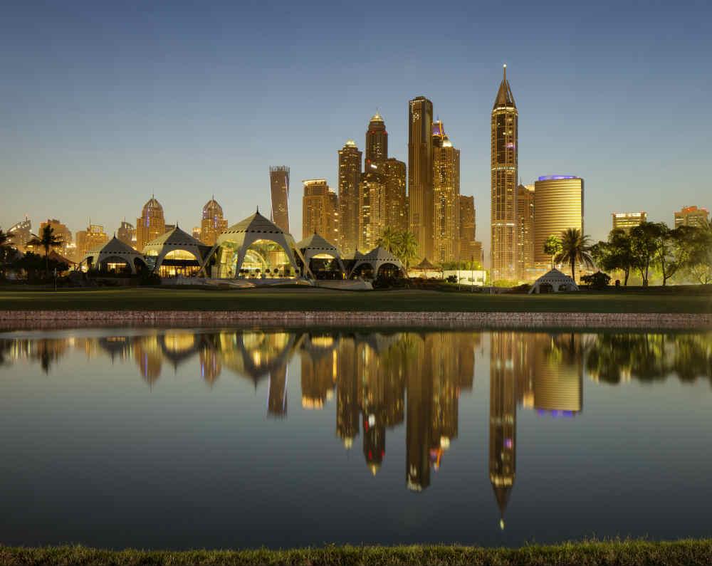 CLub House golf d'Emirates Majlis aux Emirats Arabes Unis
