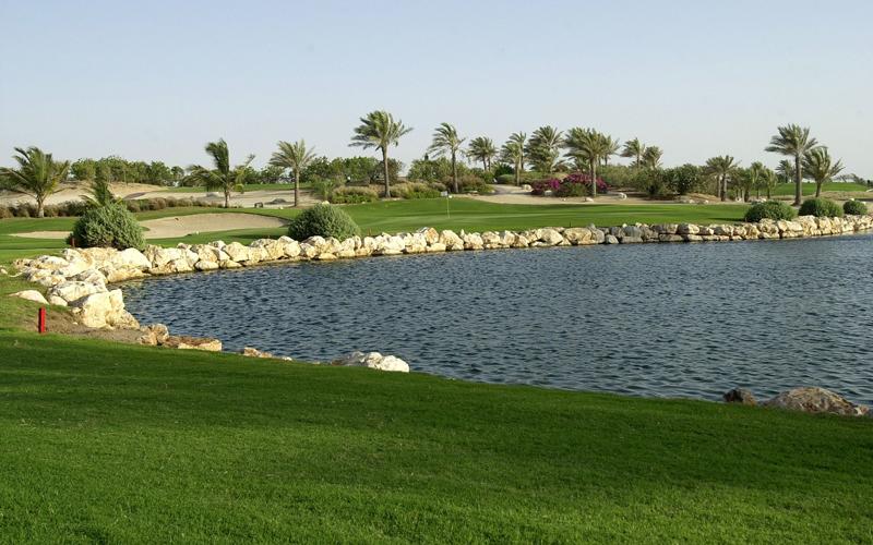 Lac Jebel Ali golf à Dubai aux Emirats Arabes Unis
