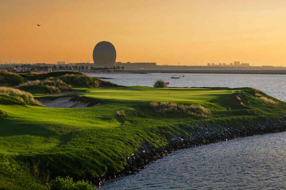 Green avec vue sur Abu Dhabi avec votre pro