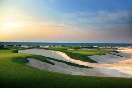 Bunker et vue sur mer Golf de Saadiyat Beach avec votre pro