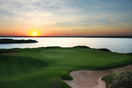 Green et Lac Golf d'Abu Dhabi avec votre pro