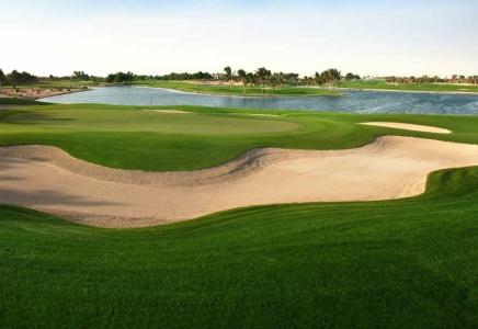 Bunker et Lac Golf d'Abu Dhabi avec votre pro