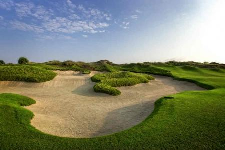 Large bunker Golf de Muscat Hills avec votre pro