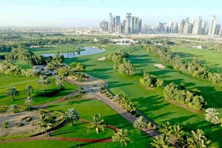 Fairways vue sur Dubaï golf d'Emirates Majlis aux Emirats Arabes Unis